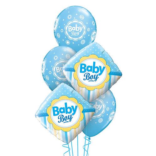Classic Balloon Bouquet - Baby Boy