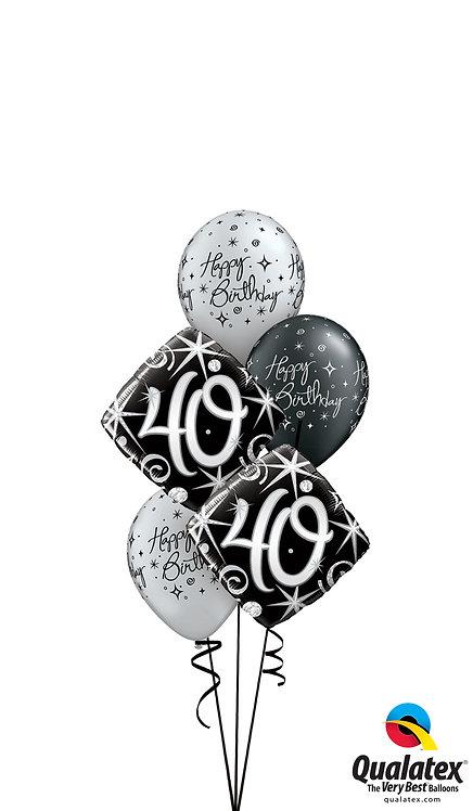 Classic Balloon Bouquet - Silver Fox at 40