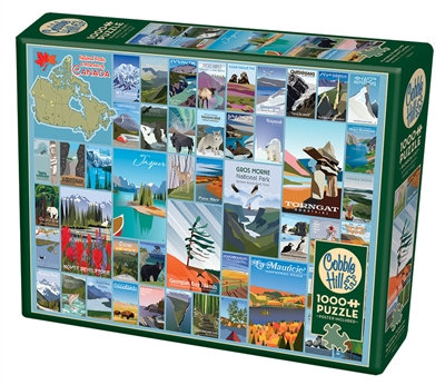 National Parks and Reserves of Canada 1000pc Cobble Hill Jigsaw Puzzle