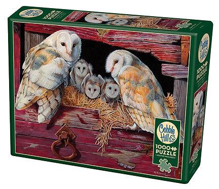 Barn Owls 1000pc Cobble Hill Jigsaw Puzzle