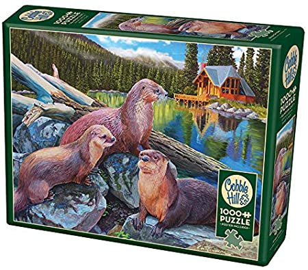 River Otters 1000pc Cobble Hill Jigsaw Puzzle