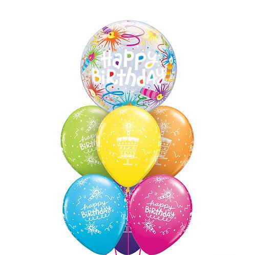 Bubble Balloon Bouquet - Happy Birthday
