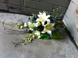 Lilies & Eryngium Bride Bouquet