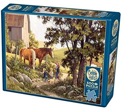 Summer Horses 500pc Cobble Hill Jigsaw Puzzle