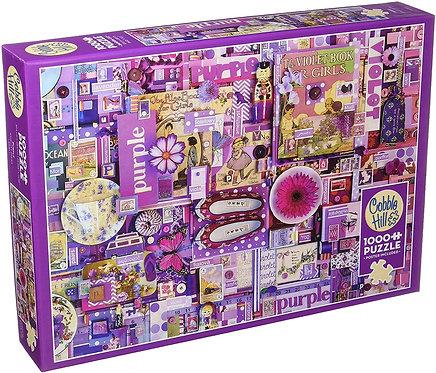 Purple 1000pc Cobble Hill Jigsaw Puzzle
