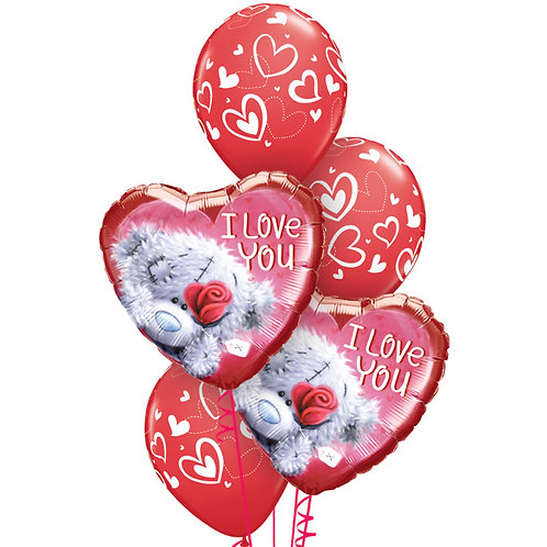 Classic Balloon Bouquet - Tatty Teddy Love