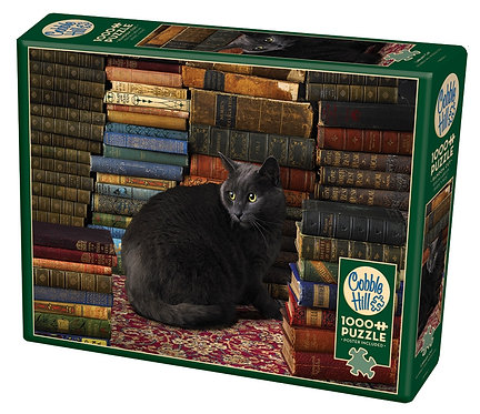 Library Cat 1000pc Cobble Hill Jigsaw Puzzle