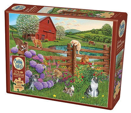 Farm Cats 275pc Cobble Hill Jigsaw Puzzle