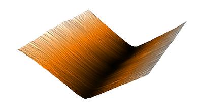 AFM image of graphene crinkle