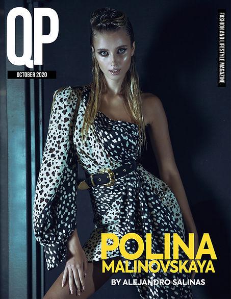 POLINA MALINOVSKAYA COVER - QPMAG OCTOBE