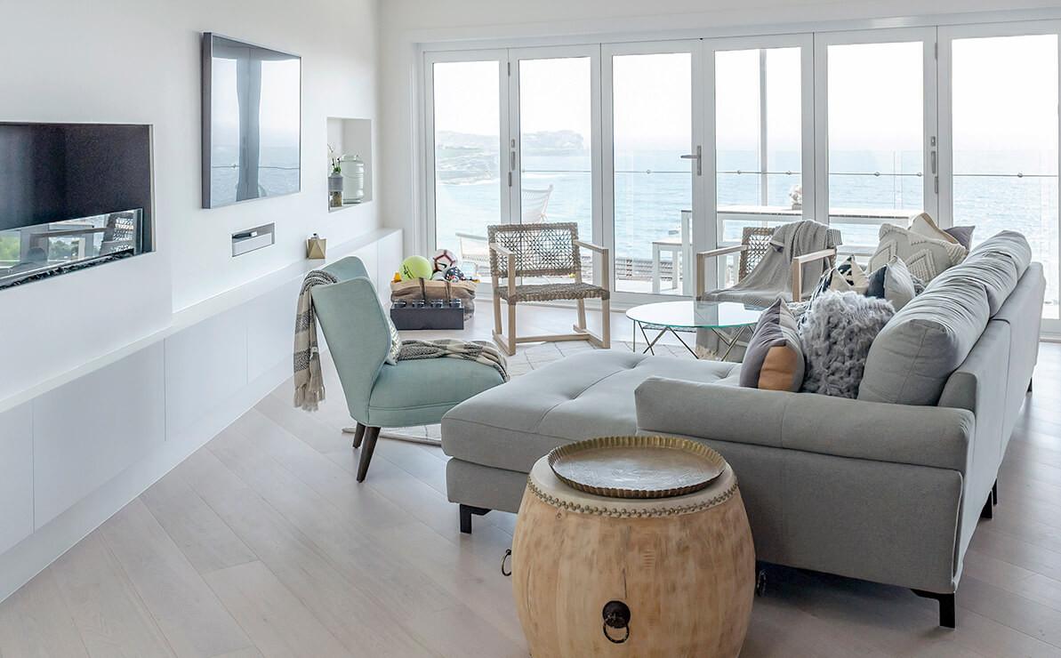 Bronte Seaside Apartment - Cradle residential apartment design - Living room