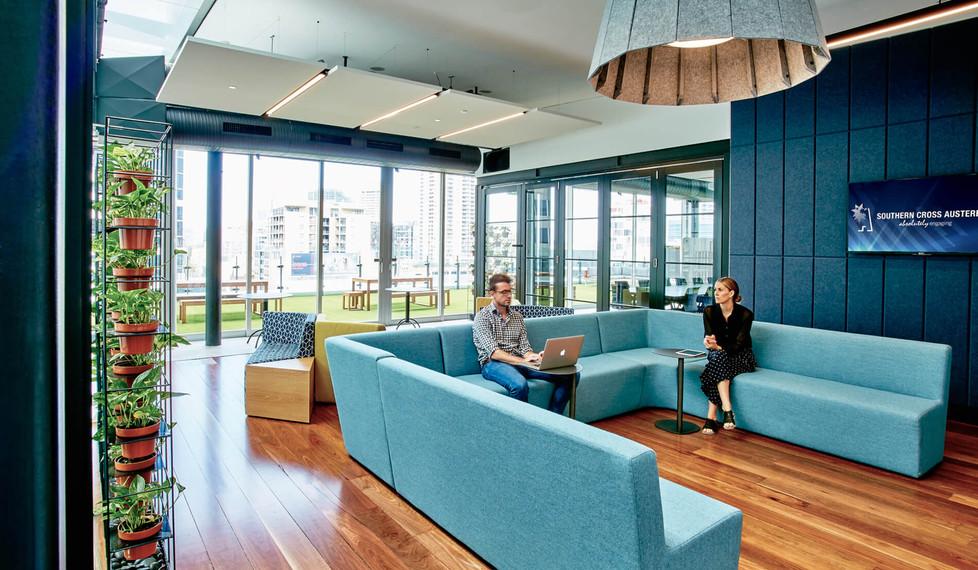 Southern Cross Austereo Sydney - corporate office interior design