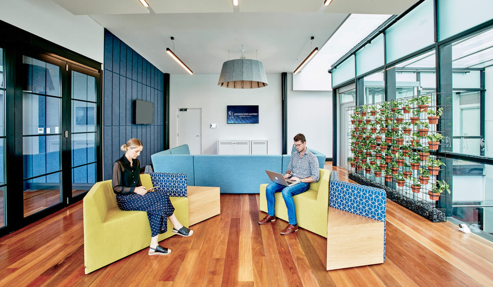 Southern Cross Austereo Sydney - commercial interior design - meeting room