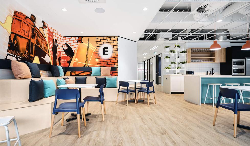 Eventbrite Melbourne - modern workplace design - Kitchen