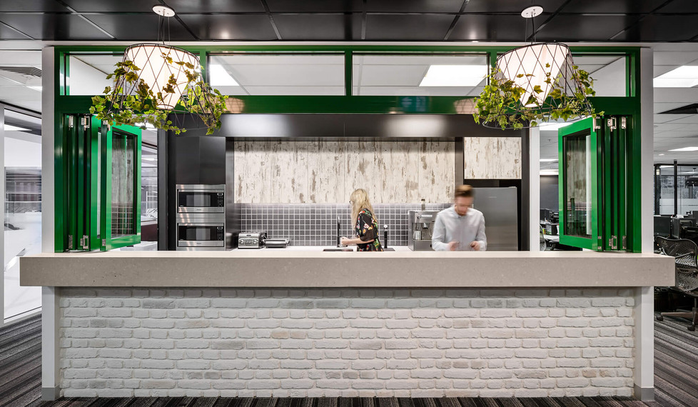 Southern Cross Austereo Melbourne - modern workplace kitchen design