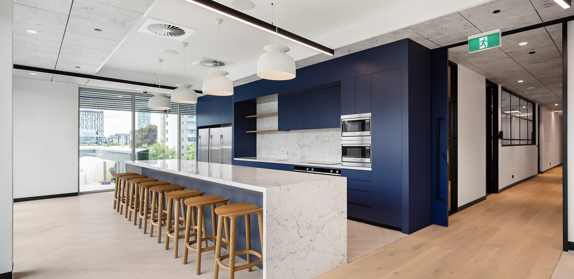 Southern Cross Austereo Melbourne - corporate kitchen design