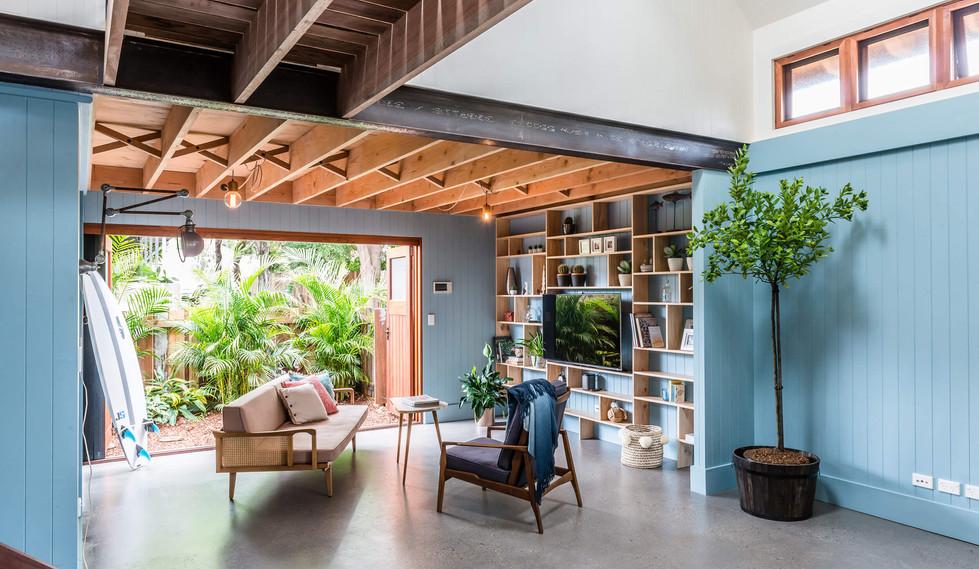 Tempe Garden Dwelling - interior design for residential house - Living room