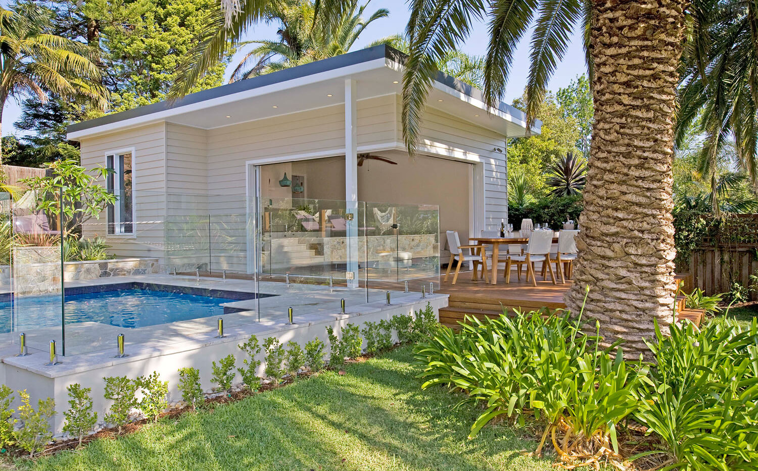 Balgowlah Heights Cabana and Pool - residential courtyard designs