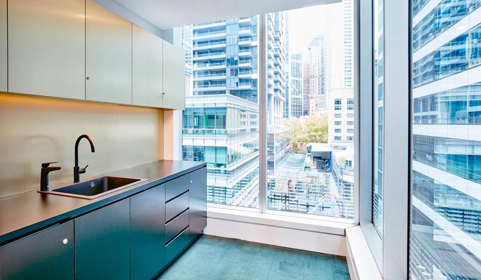 Southern Cross Austereo Sydney - corporate kitchen design