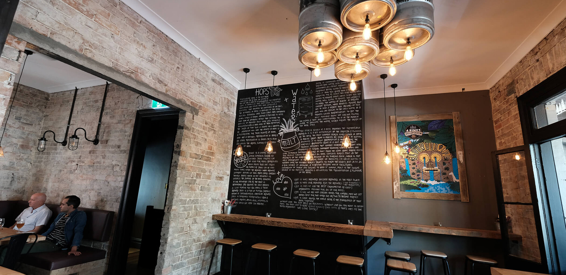Four Pines Bar Surry Hills - custom bar design