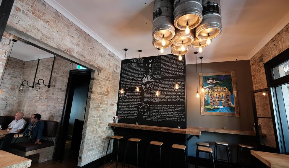 Four Pines Bar Surry Hills - custom bar design