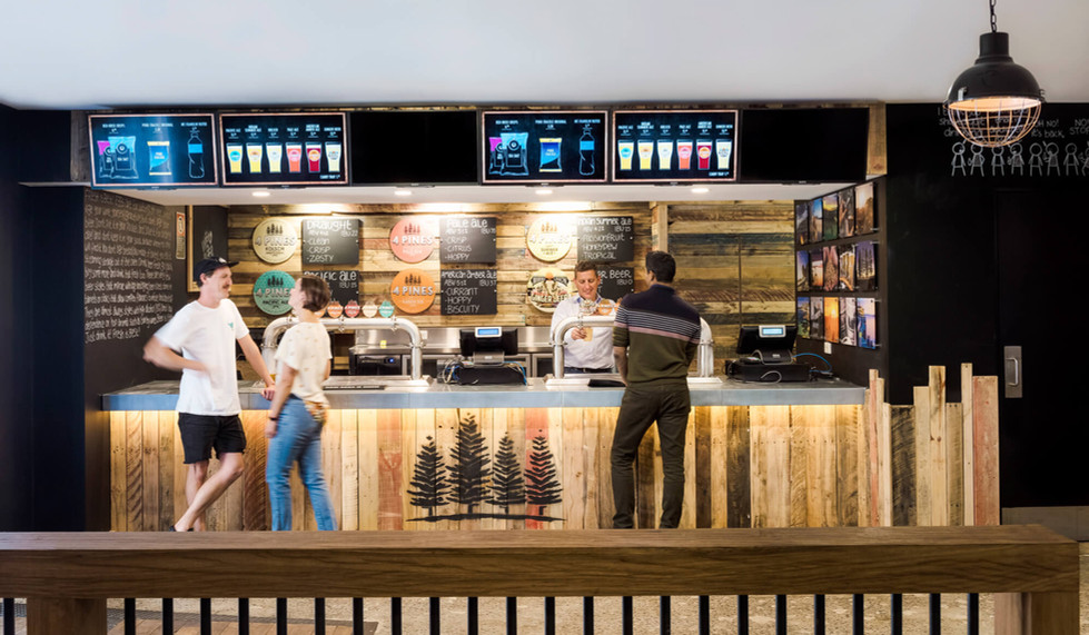 Four Pines Brewing Co. SCG - custom bar design