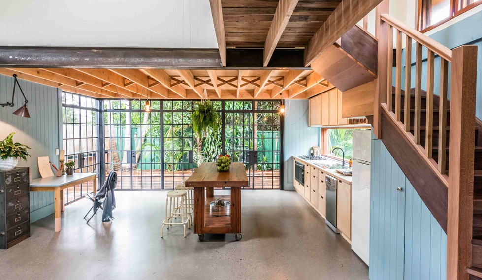 Tempe Garden Dwelling - innerspace interior design - Kitchen and office
