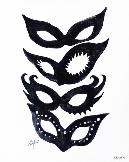 The lady's masks