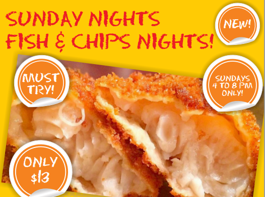 Sunday Nights Fish & Chips Nights!