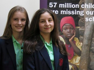 Schoolgirls become young ambassadors for global school campaign