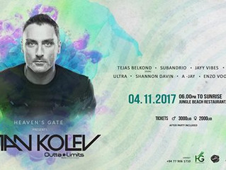 Heaven´s Gate presents Stan Kolev at Jungle Beach Restaurant Ahungalla on Nov. 4th
