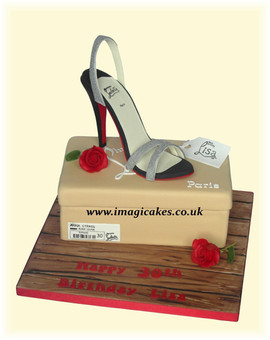 Louboutin Shoe Box Cake           Birthd