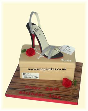 Louboutin Shoe Box Cake           Birthd