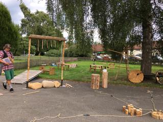 Firmenfeier Doculife mit Bauernspielen 04.09.2017