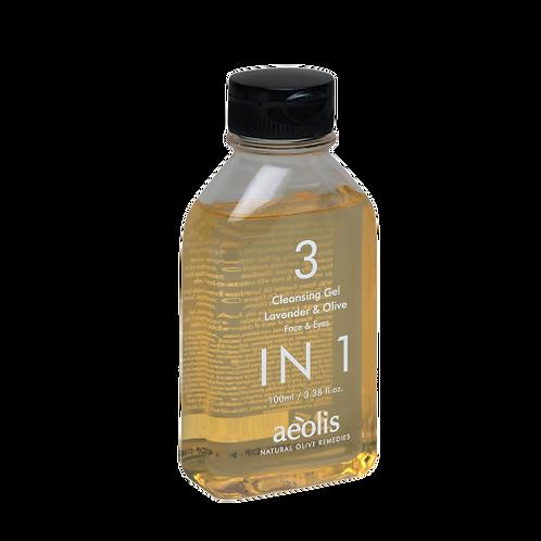 3-in-1 Cleansing Gel mit Lavendelöl und Olivenölextrakt