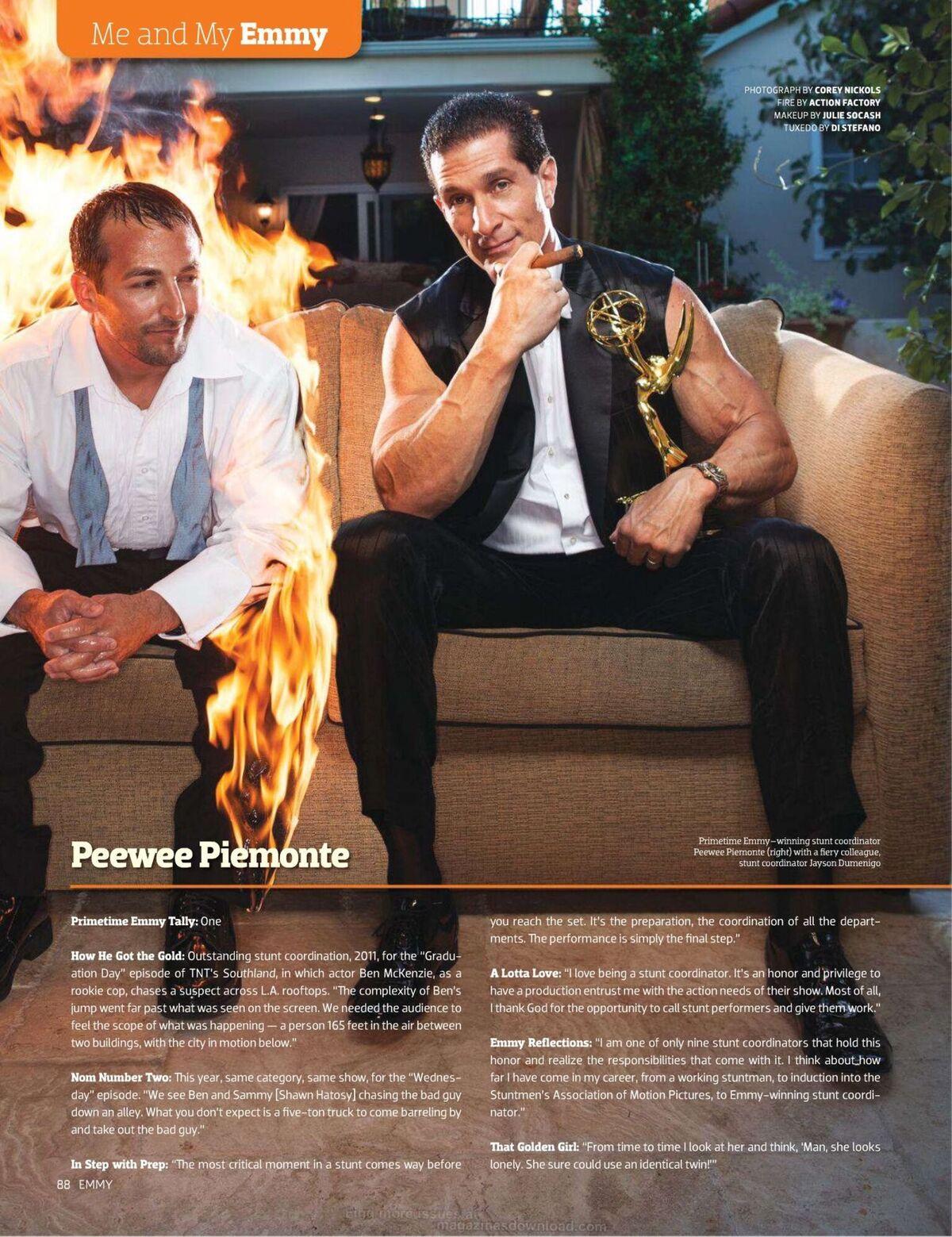 AF Burn Pee Piemonte Emmy Magazine
