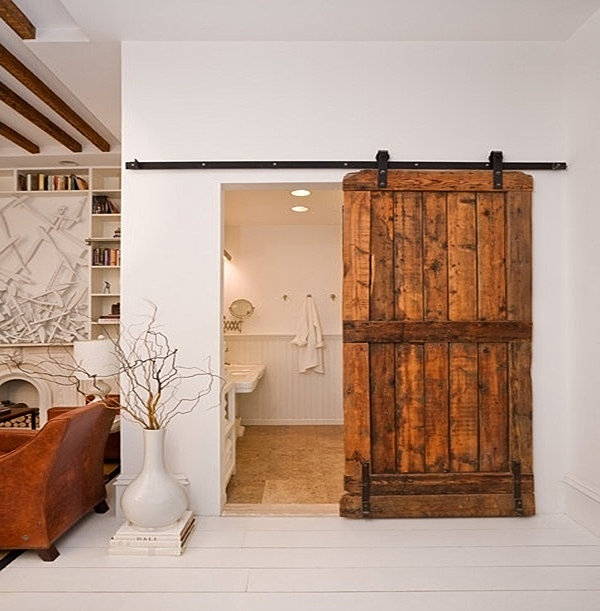- Reclaimed Wood Furniture Rustic Designs Sliding Barn Wood Door