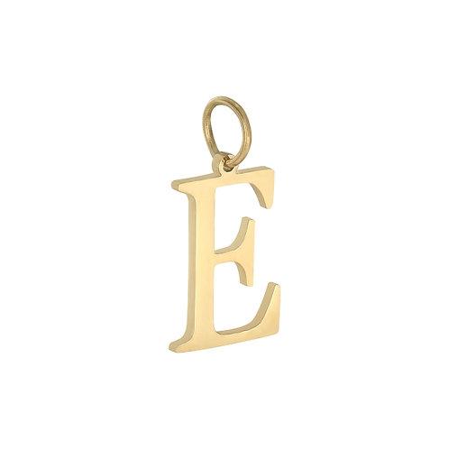 """E"" Charm - Goud & Zilver"
