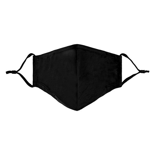 Facemask All Black - Medium (not for medical use)
