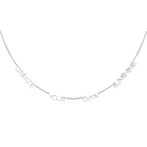 Create Your Own Sunshine Necklace -Zilver