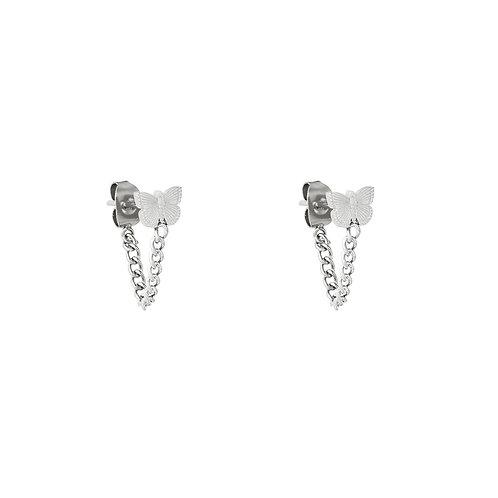 Fly Earrings - Zilver
