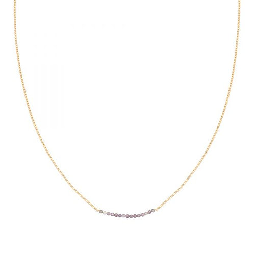 Purple Beads - Necklace
