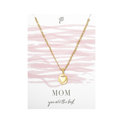 Mom Love Necklace - Goud