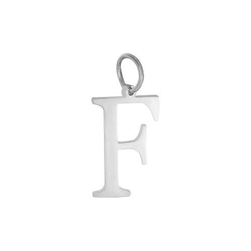 """F"" Charm - Goud & Zilver"