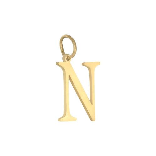 """""""N"""" Charm - Goud & Zilver"""