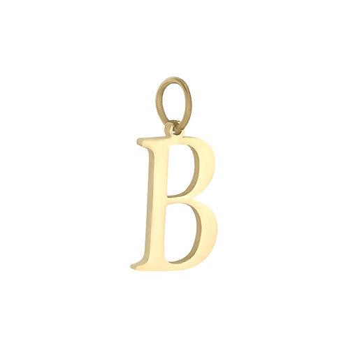 """""""B"""" Charm - Goud"""
