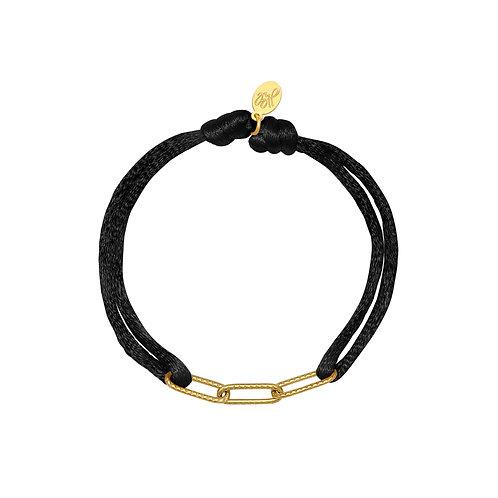 Xenna Bracelet - Zwart / Goud