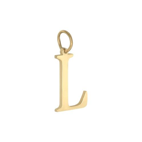 """""""L"""" Charm - Goud"""