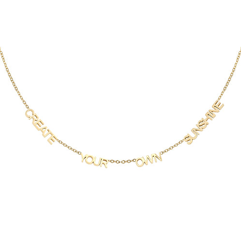 Create Your Own Sunshine Necklace - Goud