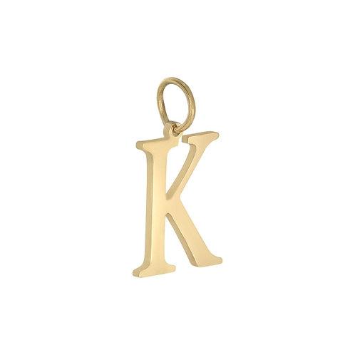 """K"" Charm - Goud"